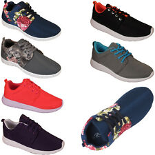 Ladies Sports Shoes Gym Jogging Running Casual Womens Floral Trainers Sizes 3-8