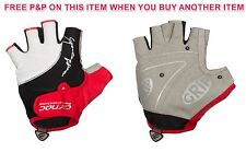 RED PAIR CARNAC SUPERLEGGERO SUMMER ROAD RACING/ CYCLING GLOVES/ MITTS 64% OFF