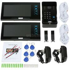 "Hot 7""LCD Color Video Door Phone Doorbell Home Intercom System Touch Key N9P8"
