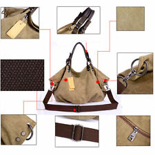 Fashion Canvas Handbag Satchel Ladies Messenger Women Shoulder Bag Tote Purse