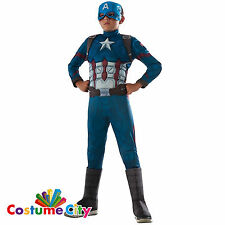 Childs Boys Official Deluxe Captain America: Civil War Fancy Dress Party Costume