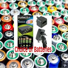 Duracell Fast 1 Hour Universal Battery Charger AAA AA C D & 9V Batteries