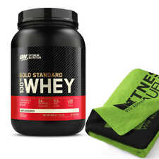 Optimum Nutrition 100% Whey Gold Standard 908g Protein Eiweiss + Handtuch