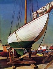 Marmont Hill Dry Dock by John Atherton Painting Print on Wrapped Canvas