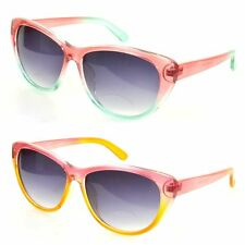 VTG 50s/60s Style Cats Eye Pink Sunglasses Bright Colourful Ombre Two Tone