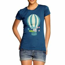 Twisted Envy Women's Animals In Hot Air Balloon T-Shirt