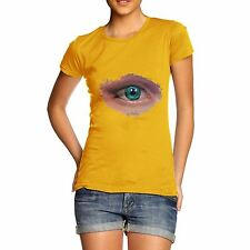 Twisted Envy Women's Abstract Eye Galaxy T-Shirt