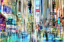 Poster / Leinwandbild times square USA NYC New York Collage - Städtecollagen
