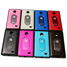 High Quality Leather finish Logo Back Case Cover for Nokia X Dual SIM