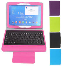 "Bluetooth Keyboard PU Leather Case Stand for Samsung Galaxy Tab 4 10.1"" QWERTY"