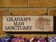 PERSONALISED GARDEN SHED SIGN MAN SHED SANCTUARY WORKSHOP SIGN NAME SIGN PLAQUE