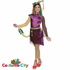 Childs Girls Official Monster High Jinafire Long Fancy Dress Party Costume