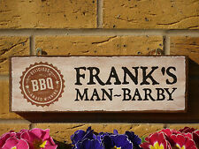 PERSONALISED BBQ SIGN BARBECUE SIGNS OUTDOOR SIGNS MAN BARBY SIGN MADE TO ORDER