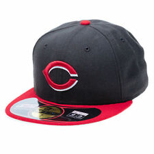 New Era Acperf Cincinnati Reds Black and Red 59FIFTY Fitted Cap