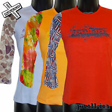 PULL-IN 'LUX TEE' LONG SLEEVE SHIRT ORANGE RED PURPLE TOP X SMALL UK 6 RRP £42