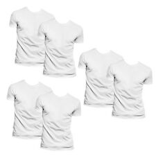 6 Stück Fruit of the Loom Herren T-Shirt Weiß in den Größen S M L XL XXL