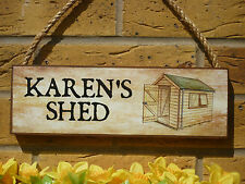 PERSONALISED GARDEN SHED SIGN SHE SHED GIFTS FOR WOMEN GIFTS FOR HER NAME PLAQUE