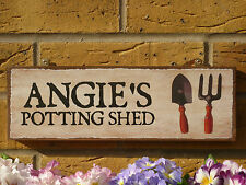 PERSONALISED POTTING SHED SIGN GARDENING SIGN GARDEN SIGN SHED OWN NAME OWN TEXT