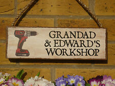 PERSONALISED GARDEN SIGN WORKSHOP SIGN POWER TOOLS OWN NAME SIGN CHOOSE YOUR OWN
