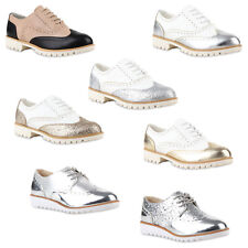 Modische Damen Halbschuhe Brogues Dandy Style 890786 Hot
