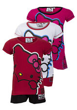 SANRIO HELLO KITTY GIRLS SHORT PYJAMAS AGES 4 TO 12 YEARS 3 COLOURS