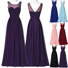 Formal Evening Party Prom Chiffon Dress Long Cocktail Bridesmaid Ball Gown Dress