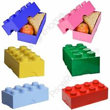 LEGO LUNCH STORAGE BOX KIDS SCHOOL LUNCH BOX VARIOUS COLOURS AVAILABLE FREE P+P
