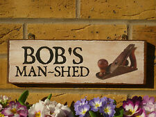 PERSONALISED WOODWORKERS SHED SIGN OWN NAME OWN WORDING MAN SHED SIGN DIY GIFTS