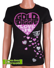 "Golddigga Nero & Rosa Glitter & Cuore Di Paillettes ""Love It"" Aderente"