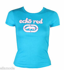 MARC ECKO RED BLU TURCHESE, bianco aderente T SHIRT XS S M UK 6 8 10