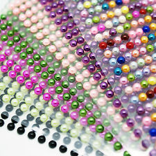 PEARL STICKER SHEET half pearl flat back strips 4, 5, 6mm self adhesive gems