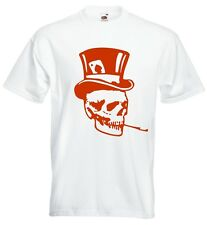 TOP HAT SKULL T Shirt. Choice of T Shirt Colours. Free Postage.