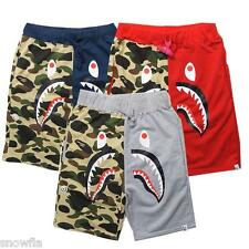 New Arrival Men's Aape Shark Jaw Camo Stretchy Bape Cotton Ape Shorts Pansts