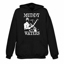 """""""Muddy Waters"""" Hoodie - Blues Guitar Icon, R&B, All Sizes & Colours"""