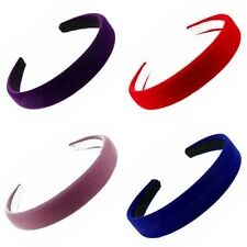 "New Coloured Flock Alice Band Hair Band Headband 2.5cm (1"") - Hair Accessories"