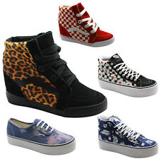 Vans Off The Wall SK8 Hi Wedge Platform Authentic Womens Boots Trainers Shoes