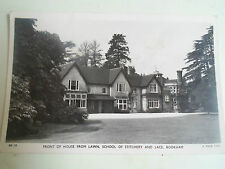 Vintage RP Postcard Front Of House From Lawn School of Stitchery+Lace, Bookham