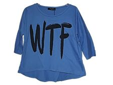 NEW SISTERS POINT RETRO RELAXED WTF SCOOP T-SHIRT TOP ~ WHAT THE F&%* ~ SZ 6-12