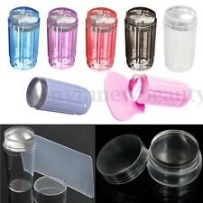 DIY Nail Art Stamping Clear Silicone Jelly Stamper Scraper Manicure Tools Kit