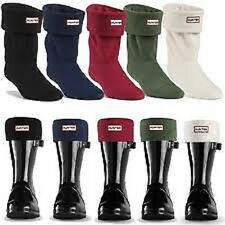 HUUNTER SHORT WELLY SOCKS- COLOURS- GREEN,BLACK,NAVY,CREAM,RED- SIZES M, L