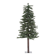 Vickerman Natural Alpine 5' Green Artificial Christmas Tree with Unlit