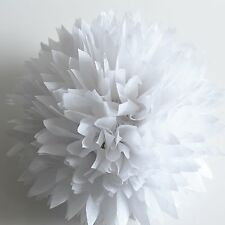 "Pearl white tissue paper pompom-party decorations -glitter 19"" 14"" 10"" 8"" 6"" 4"""
