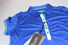 Sunice donna maniche corte T-Shirt Polo da golf Blu Intenso bianco turchese M 12