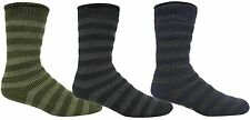 REDTAG Mens Striped Thermal Non-Slip Slipper Socks