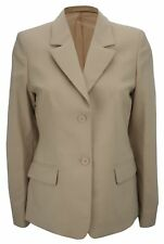 Simon Jersey Ladies Two Button Wool Rich Suit Jacket Blazer Camel