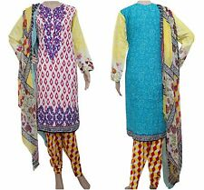 DW24MA Ready Made Stitched Salwar Kameez Dress Pakistani Indian Asian Lawn Suit