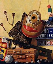 Still Life of Boys Toys by John Atherton Painting Print on Wrapped Canvas