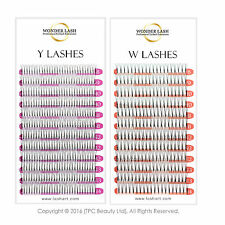 WonderLash® 2D 3D Individual Eyelash Extensions Semi Permanent Y W Eye Lashes
