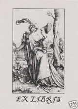 EX LIBRIS BOOKPLATE Young Couple Threatened by Death