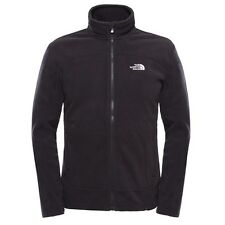 The North Face 100 Glacier Herren Zip Fleece Pullover TNF Black